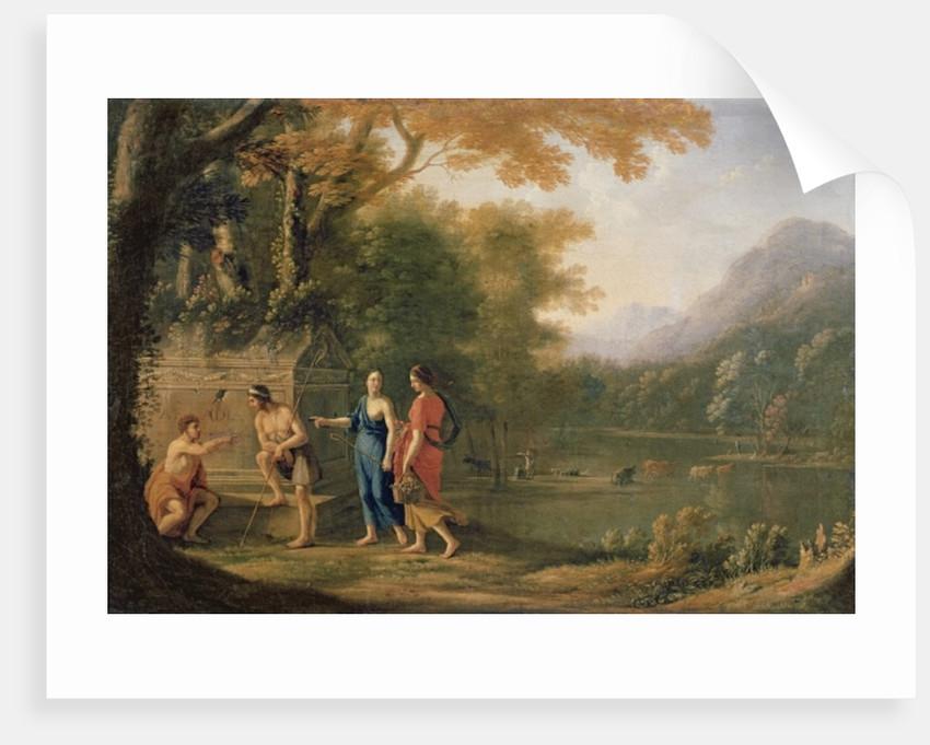 Nicolas Poussin The Arcadian Shepherds Art Print//Poster