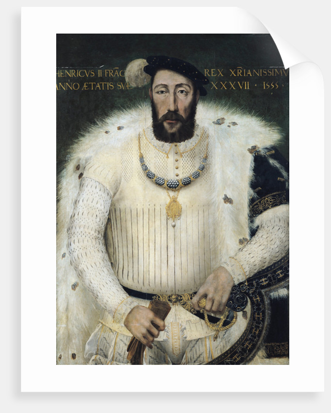 Henri II, King of France by French School