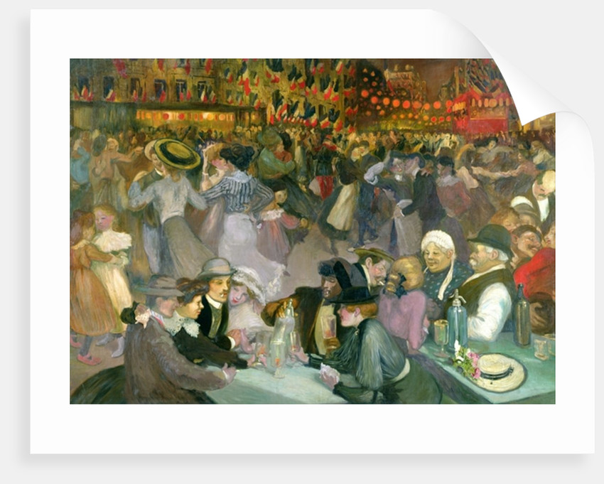 Ball on the 14th July by Theophile Alexandre Steinlen