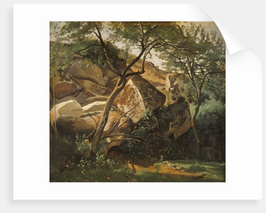 Rocks at Fontainebleau by Jean Baptiste Camille Corot