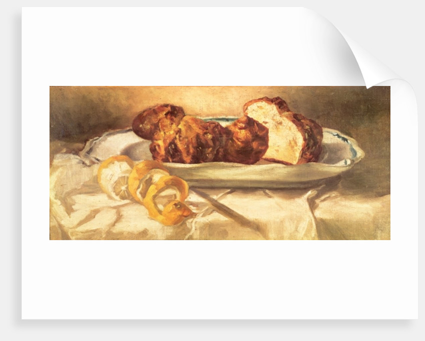 Still life with brioches and lemon by Edouard Manet