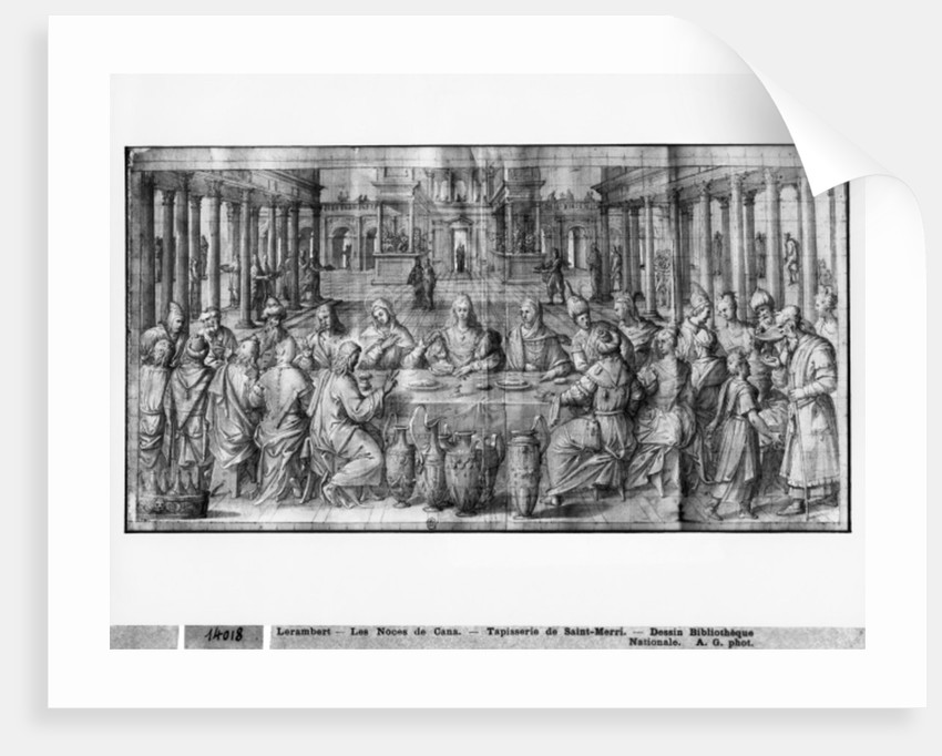 Life of Christ, Marriage at Cana by Henri Lerambert