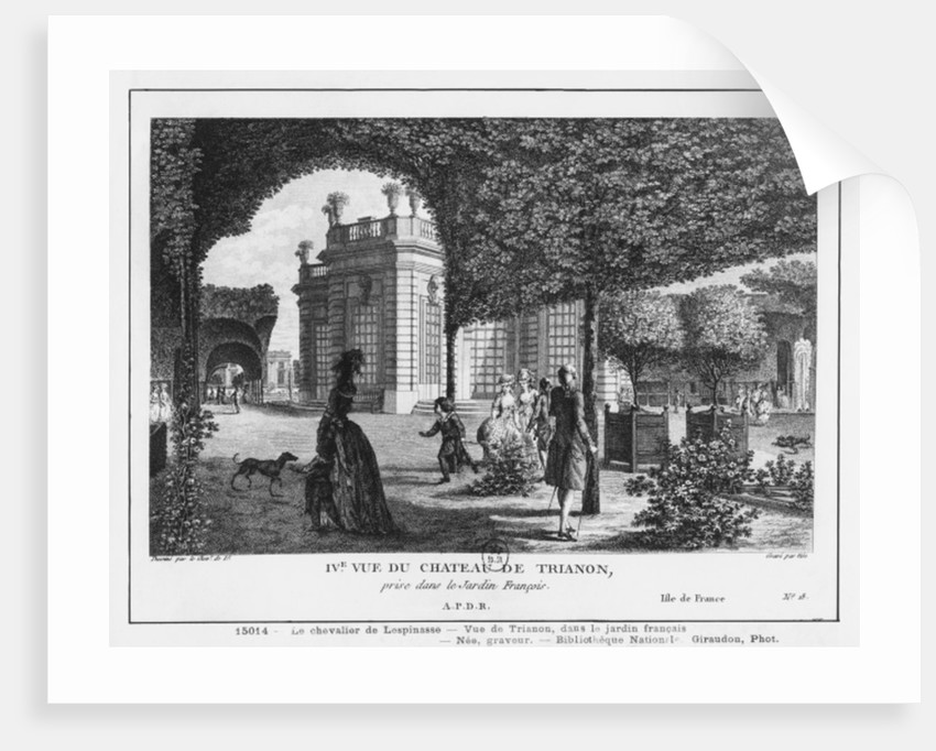 Fourth view of Trianon, taken in the French garden by Louis-Nicolas de Lespinasse