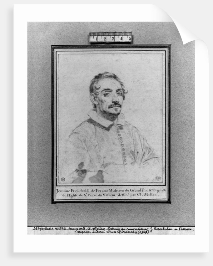 Girolamo Frescobaldi by Claude Mellan