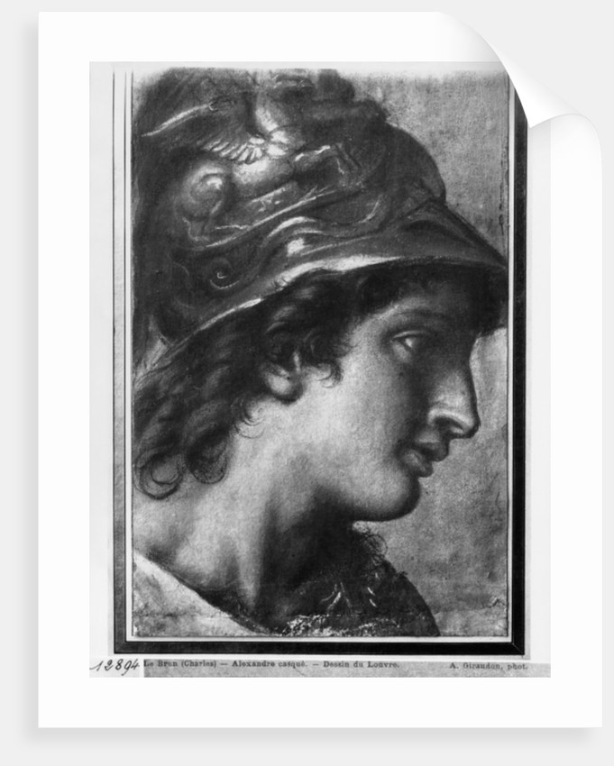 Alexander the Great, study for the painting 'The Tent of Darius' by Charles Le Brun in Versailles by Francois Verdier