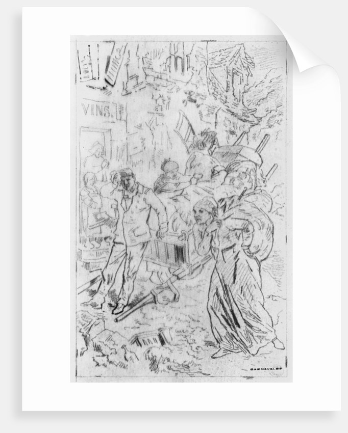 Album of the Siege of Paris, Emigrants by Gustave Dore