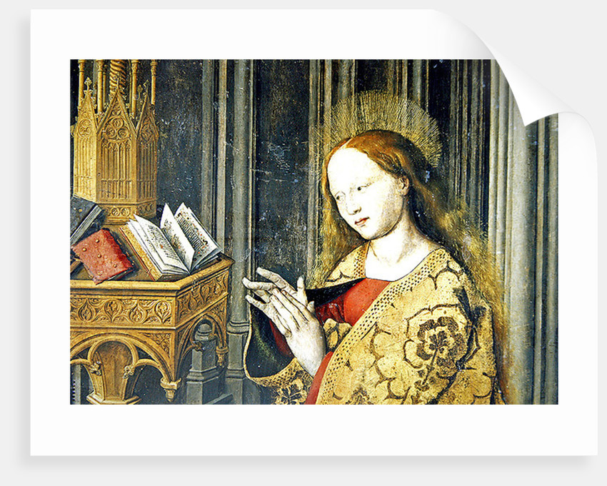 The Virgin Mary reading from a book of Hours by Master of the Aix Annunciation