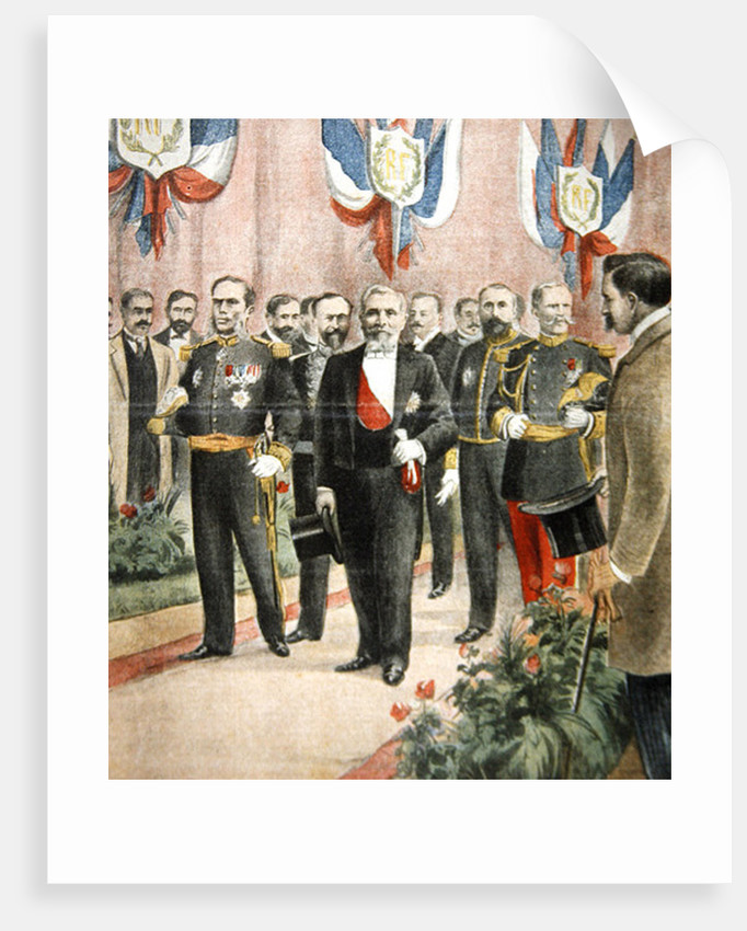 The arrival of President Loubet in Russia for a state visit by French School