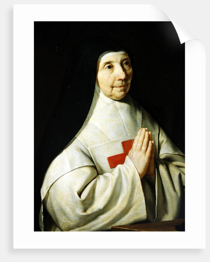 Portrait of Catherine-Agnes Arnauld by Philippe de Champaigne