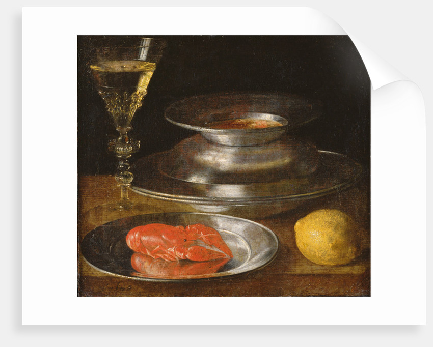 Still life with lobster by Sebastian Stoskopff