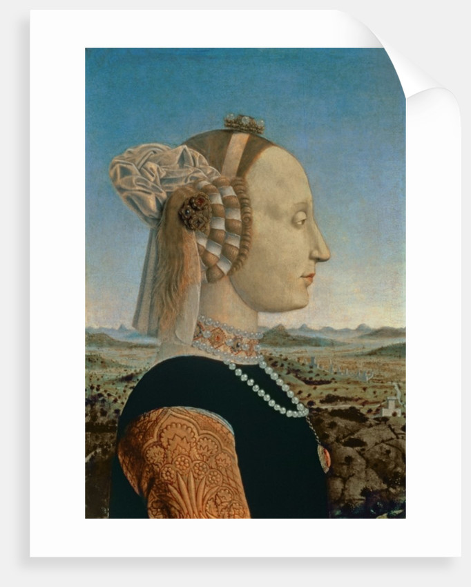 Battista Sforza, wife of Federigo da Montefeltro, Duke of Urbino by Piero della