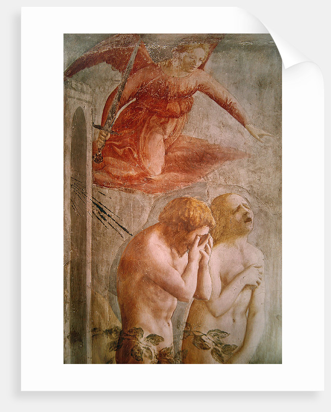 Detail of Adam and Eve Banished from Paradise by Tommaso Masaccio