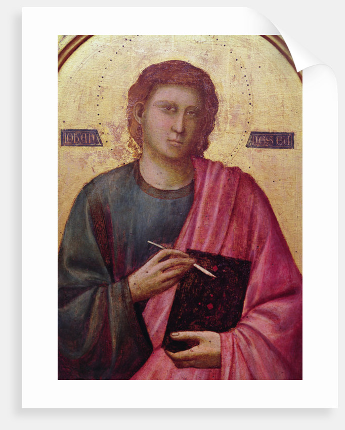 St. John the Evangelist, left panel of the Badia Altarpiece by Giotto di Bondone