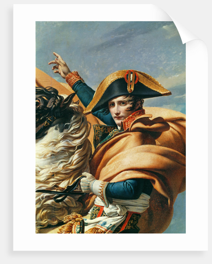 Bonaparte Crossing the Alps by Jacques Louis David