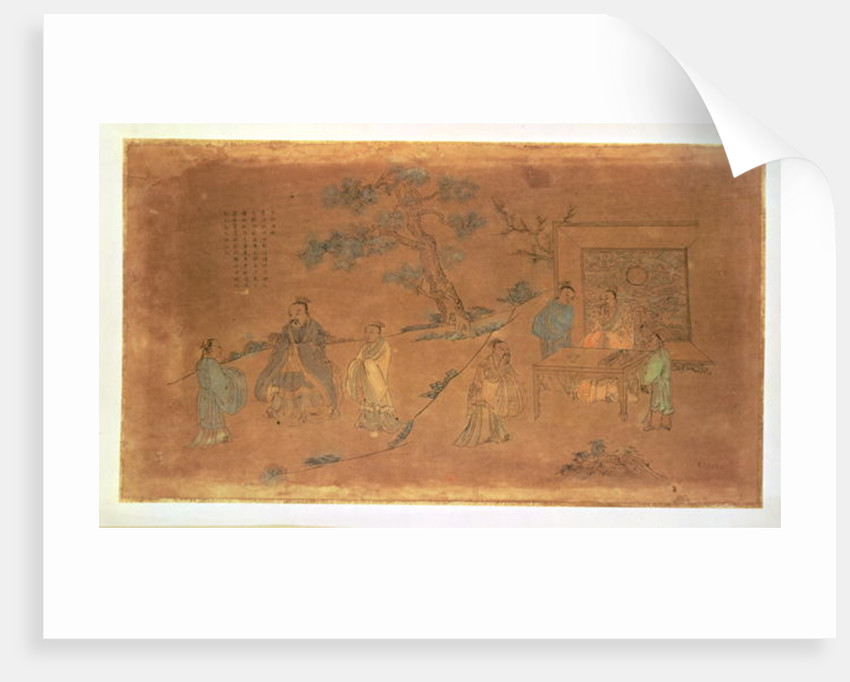 Scene from the life of Confucius and his disciples, Qing Dynasty by Chinese School