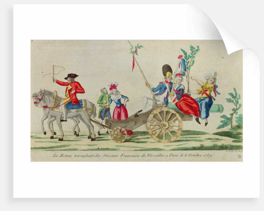 The triumphant return of the French heroines from Versailles to Paris on the 6 October 1789 by French School