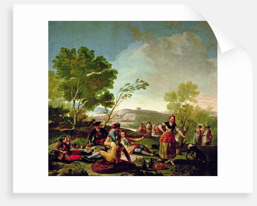 Meal on the banks of the River Manzanares by Francisco Jose de Goya y Lucientes