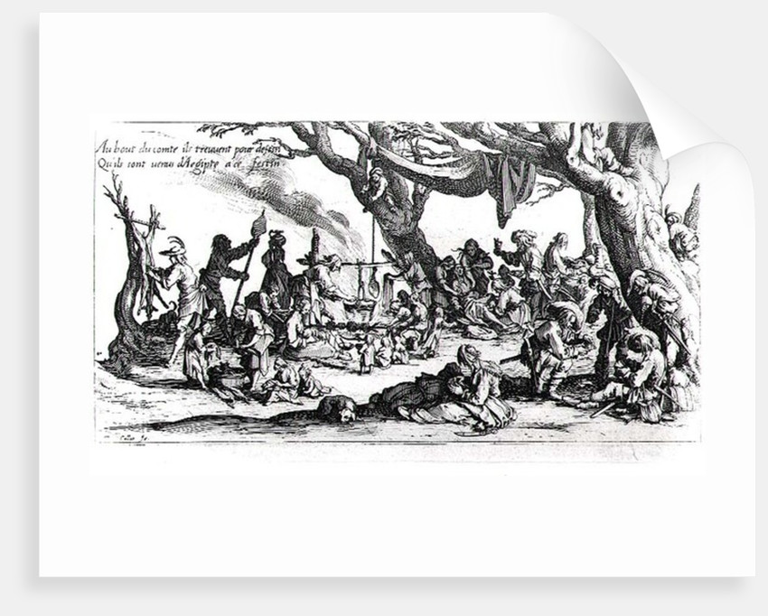 A Birth in a Gypsy Camp by Jacques Callot
