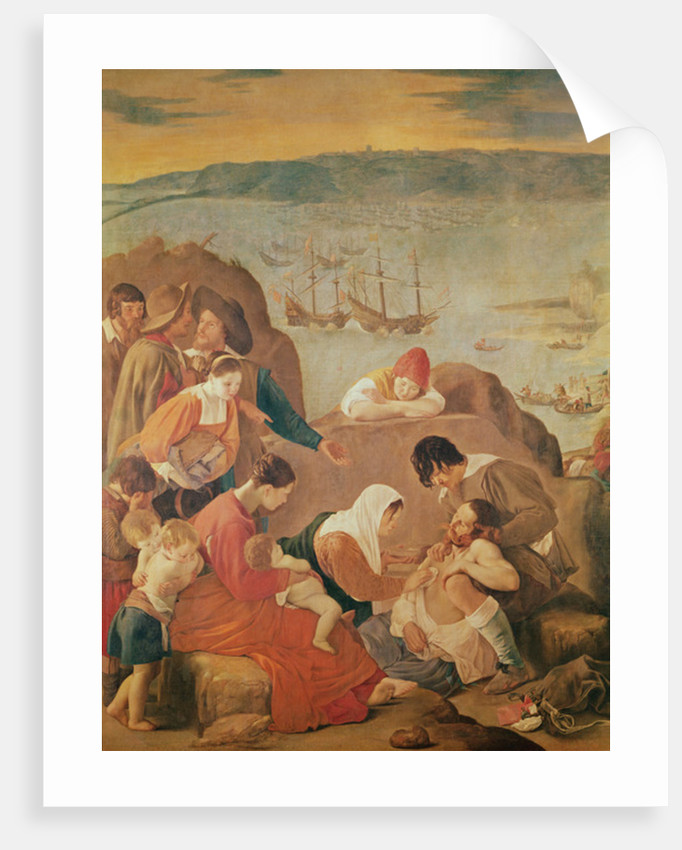Care of women after the battle at the reconquest of the San Salvador Bay, Brazil by Fray Juan Batista Maino or Mayno