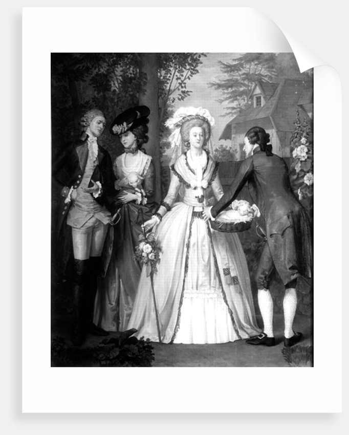 Marie-Antoinette of Habsbourg-Lorraine, Queen of France and Navarre, as a Shepherdess at Trianon by Alfred Wilson Cox