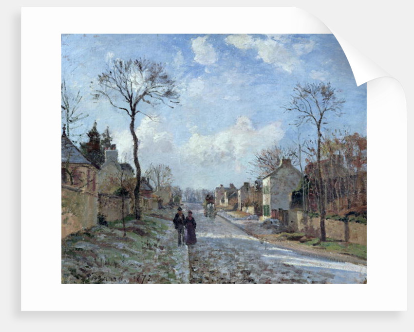 The Road to Louveciennes by Camille Pissarro