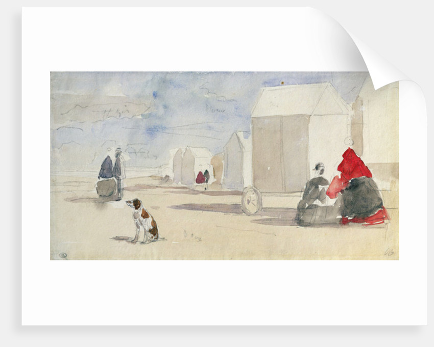 By the Bathing Machines by Eugene Louis Boudin