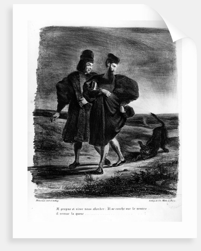 Faust and Wagner, Illustration for Faust by Goethe by Ferdinand Victor Eugene Delacroix