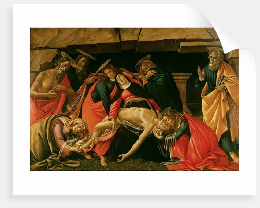 Lamentation of Christ by Sandro Botticelli