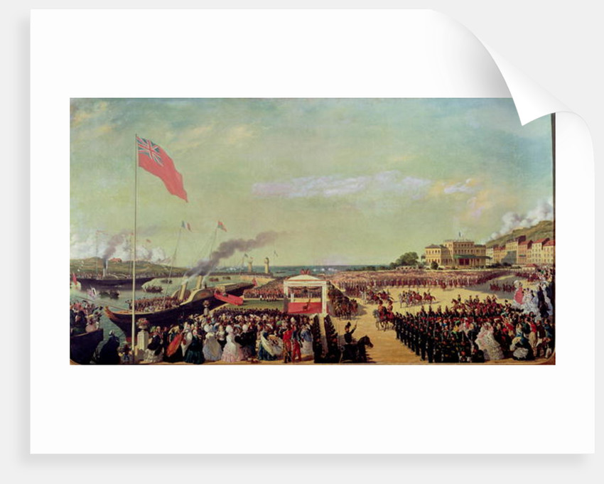 Napoleon III Welcoming Queen Victoria at the Port of Boulogne by Louis Armand