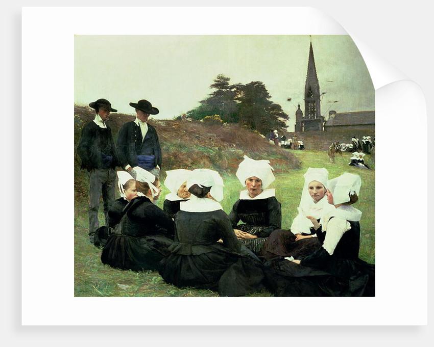 Breton Women Sitting at a Pardon by Pascal Adolphe Jean Dagnan-Bouveret