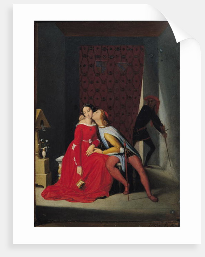 Gianciotto Discovers Paolo and Francesca by Jean Auguste Dominique Ingres