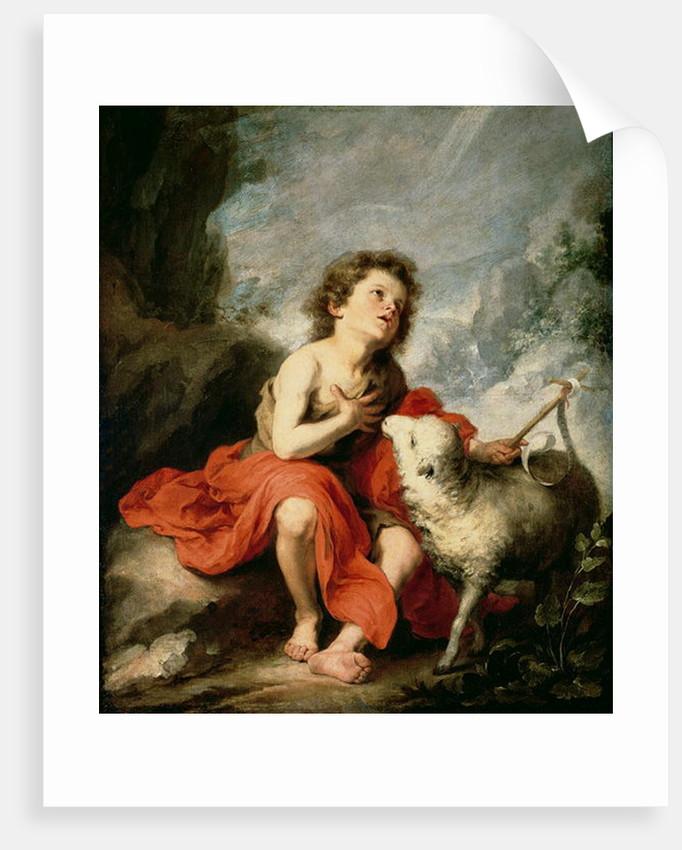 St. John the Baptist as a Child by Bartolome Esteban Murillo