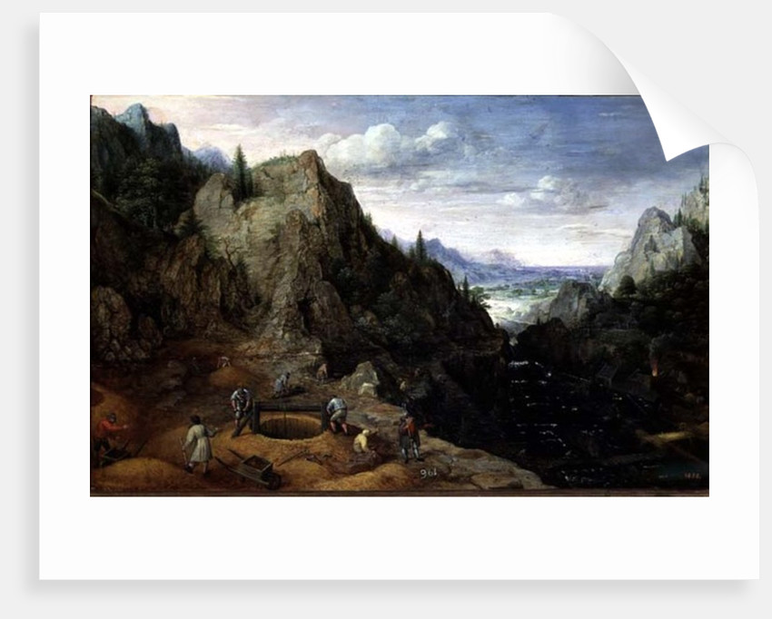 Landscape with a Foundry by Lucas van Valckenborch