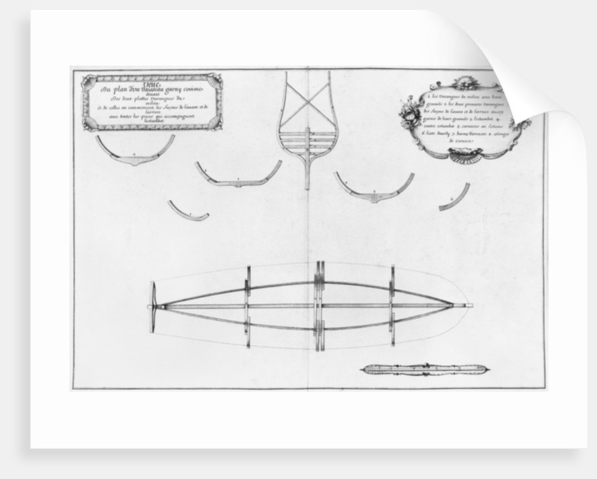Plan of a vessel with its floor plates by plate 4