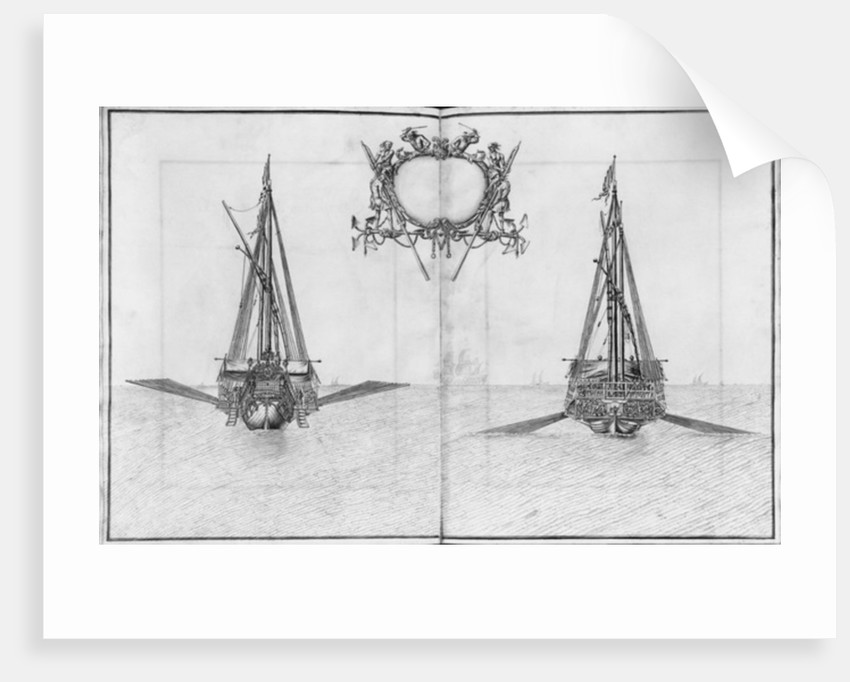 Building, equipping and launching of a galley, plate XXIII by French School