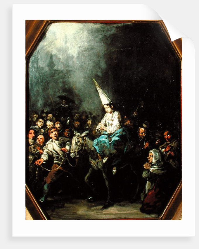A Woman Damned by The Inquisition by Eugenio Lucas Velazquez