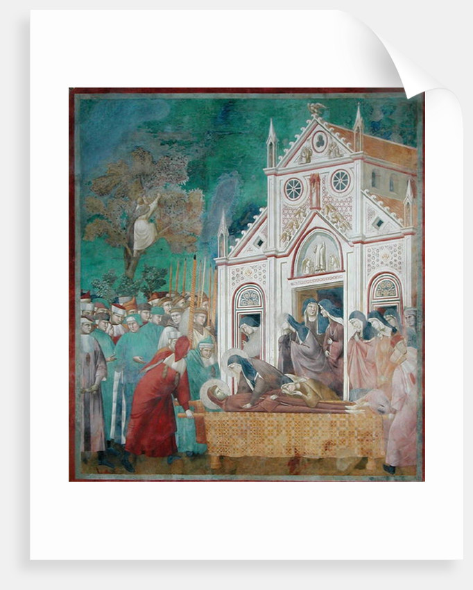 St. Clare Embraces the Body of St. Francis at the Convent of San Damiano by Giotto di Bondone