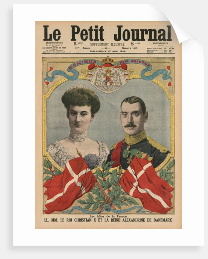 Hosts of France, King Christian X and Queen Alexandrine of Denmark by French School