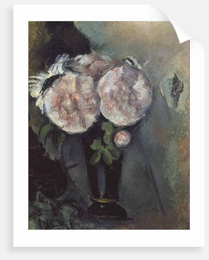 Flowers In A Blue Vase Posters Prints By Paul Cezanne