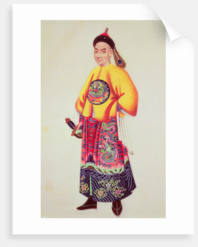 Costume of an emperor by Japanese School