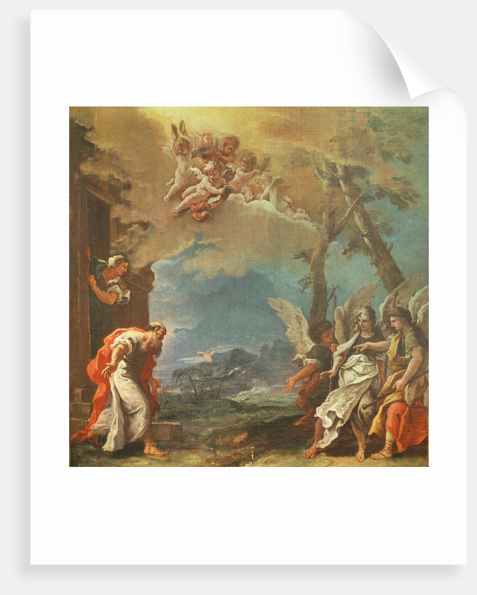 Abraham welcoming the Angels by Sebastiano Ricci