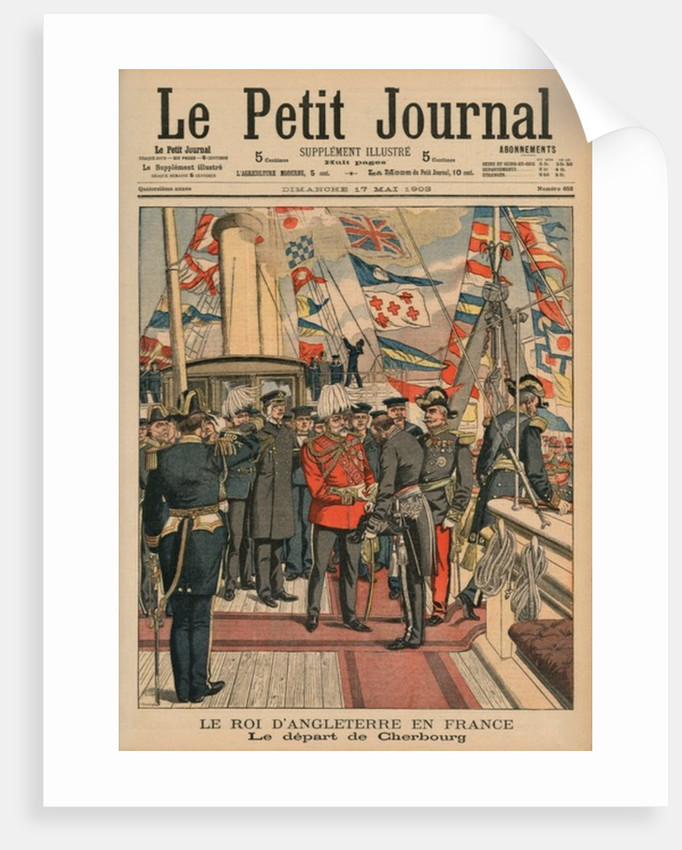 Edward VII, King of England, leaving Cherbourg by French School