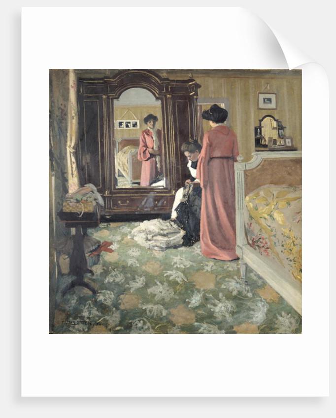 Interior by Felix Edouard Vallotton