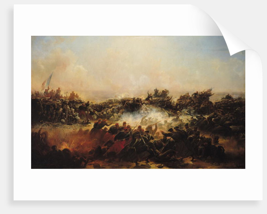 The Battle of Sebastopol, right hand section of triptych by Jean Charles Langlois