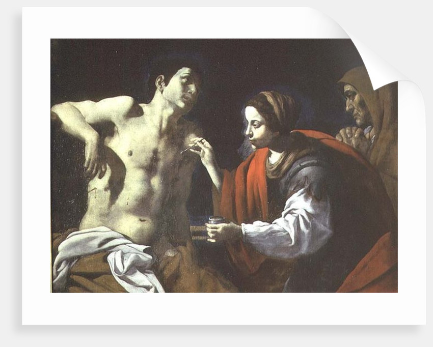 St. Sebastian Nursed by St. Irene by Giovanni-Battista Caracciolo