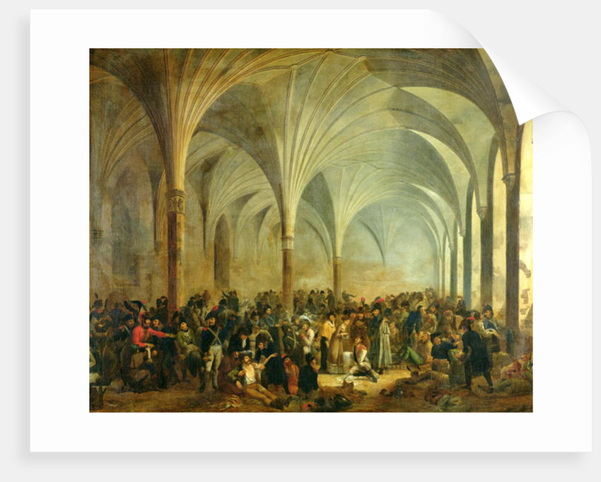The Military Hospital of the French and Russians at Marienburg in June 1807 by Adolphe Roehn
