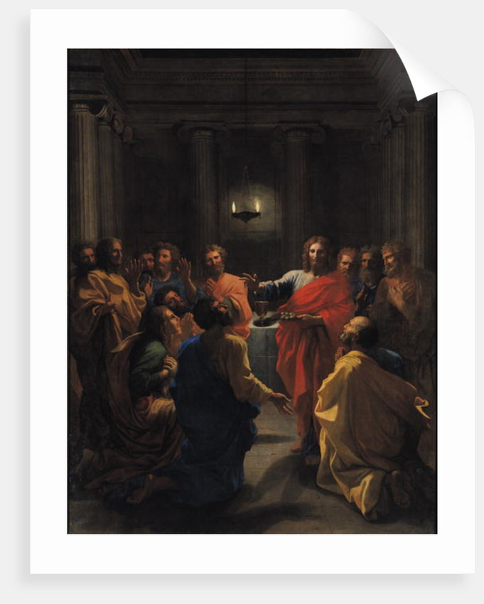 Christ Instituting the Eucharist, or The Last Supper by Nicolas Poussin