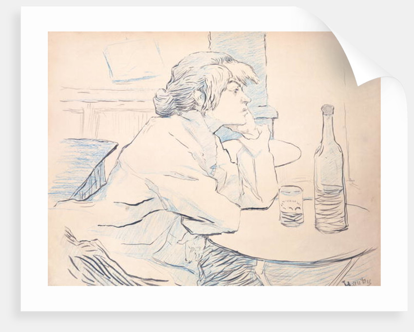 Woman Drinker, or The Hangover by Henri de Toulouse-Lautrec