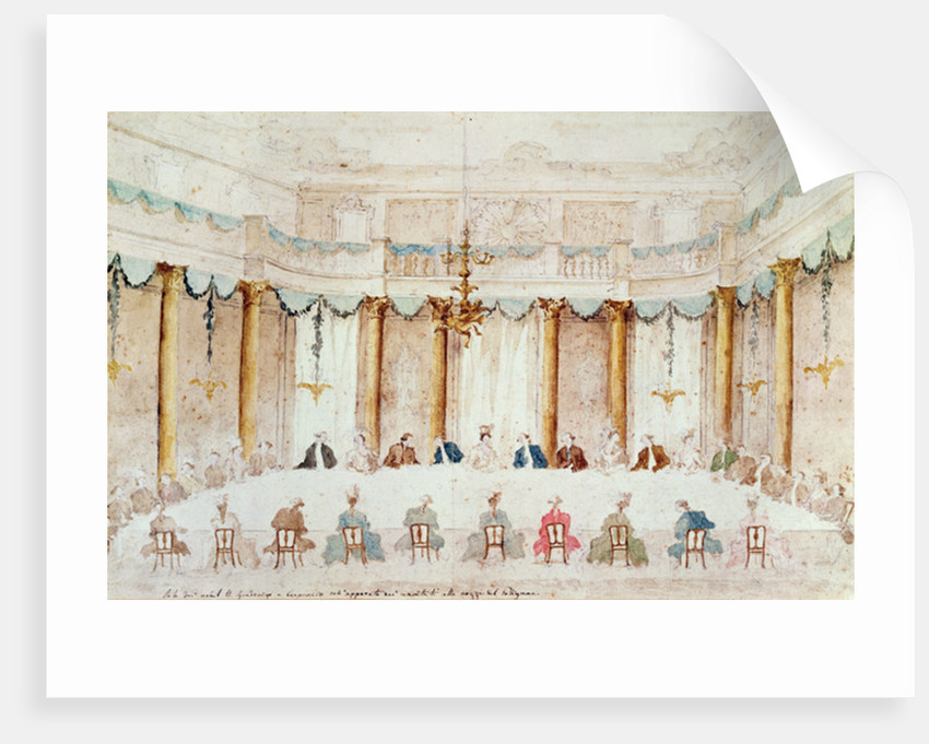 Festive Dinner Given to Celebrate the Marriage of Armand Duke of Polignac to the Baroness Idalia of Neukirchen at Villa Gradenigo, Carpenedo by Francesco Guardi