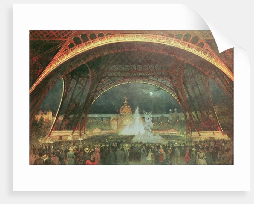 Celebration on the night of the Exposition Universelle in 1889 on the esplanade of the Champs de Mars by Francois Geoffroy Roux